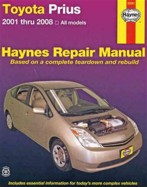service manual hayes car manuals 2008 toyota camry hybrid electronic throttle control toyota prius 2001 2008 haynes service repair manual sagin workshop car manuals repair books