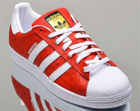 adidas originals superstar animal shoes red white met gold