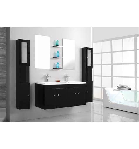 ensemble de salle de bain barcelone noir meuble salle de bain double vasque decoration salle