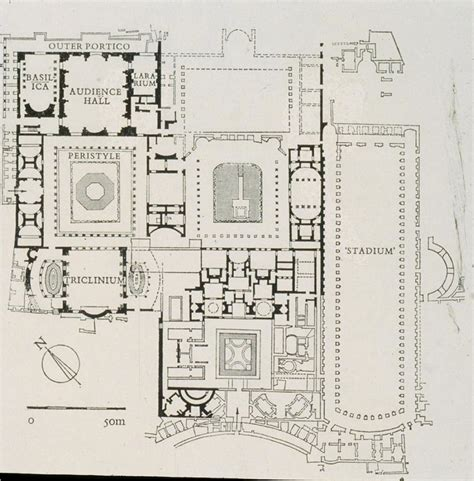 roman domus floor plan plan flavian palace domus augustana rome history of