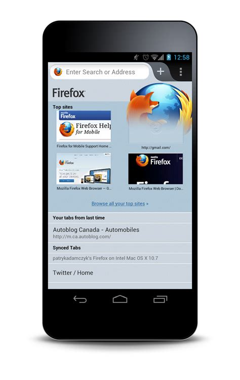 mozilla firefox mobile visual reboot of firefox mobile for android mozilla ux