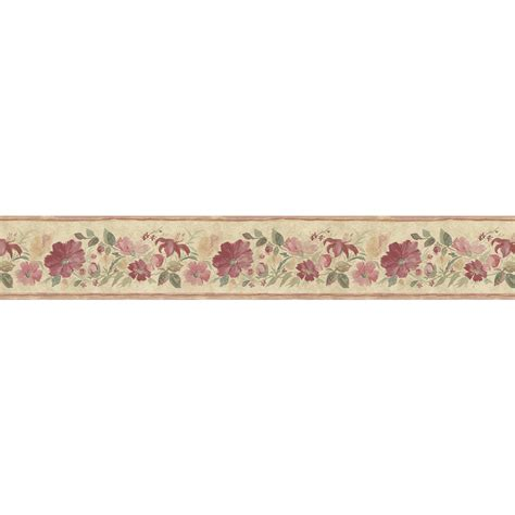 red coffee wallpaper border shop norwall 5 25 in red prepasted wallpaper border at