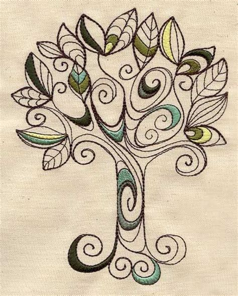 zen tattoo family doodle tree urban threads unique and awesome embroidery