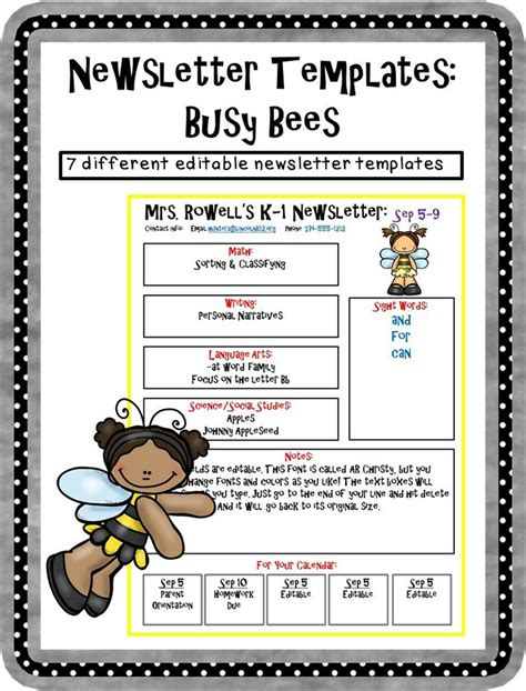 editable newsletter template editable newsletter template busy bee themed