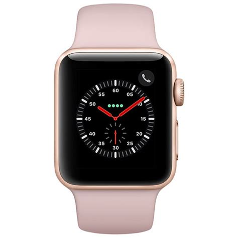 Apple Series 3 38mm Gold Aluminium Pink Sport apple series 3 gps cellular 38mm gold aluminium