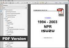isuzu npr manual ebay
