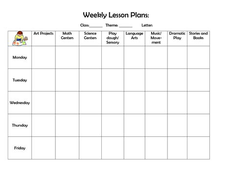 free editable weekly lesson plan template editable weekly lesson plan template best resume exles