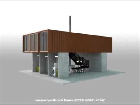 quik house the rammed earth shipping container quot quik house quot by adam kalkin youtube