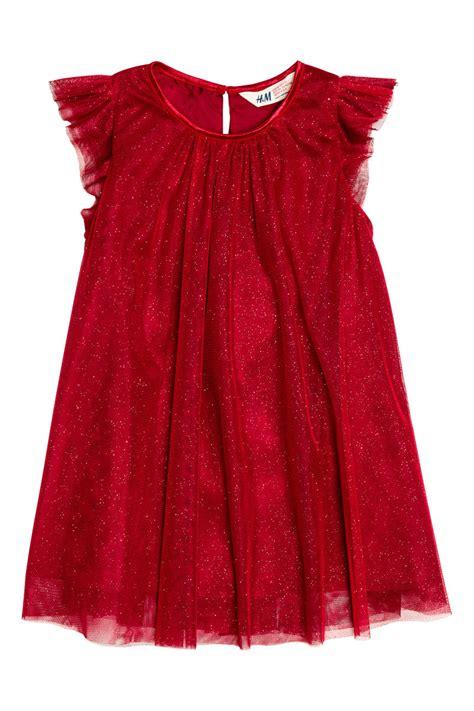 Dress Merah Sale 3y 5y 1 tulle dress glitter sale h m us