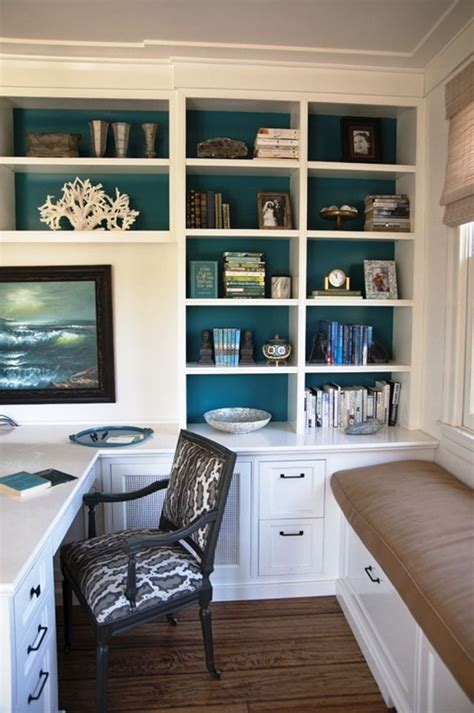 beach style office desk presenting 30 beach style home office design ideas