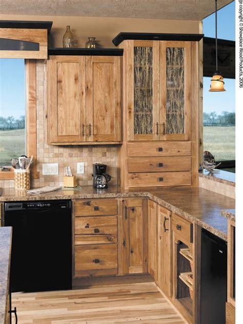 dark trimmed hickory cabinets   derek