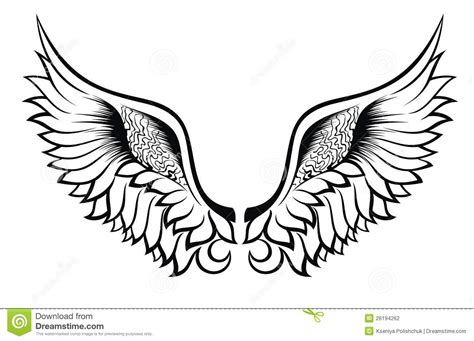 wings tattoo design stock vector illustration of print