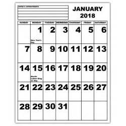 Calendar 2018 Large Print Maxiaids Jumbo Print Calendar 2018