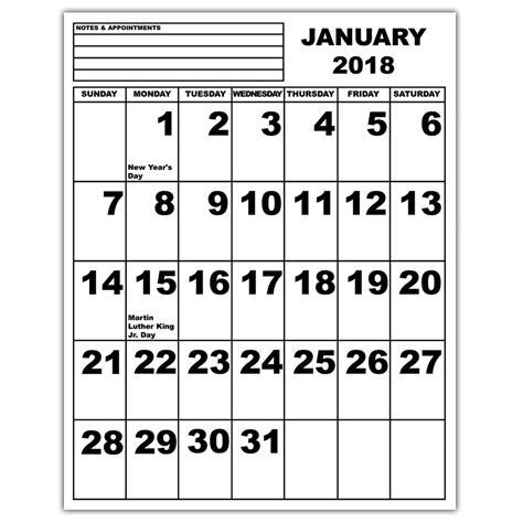 printable calendar 2018 large print maxiaids jumbo print calendar 2018