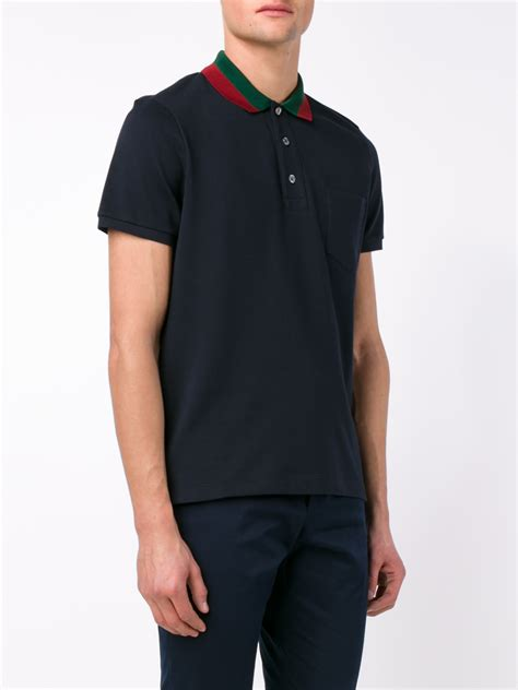 Polo T Shirt Persija lyst gucci striped collar polo t shirt in blue for
