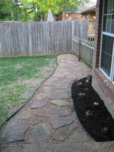 backyard walkway ideas landscaping network build your own backyard flagstone pathway the owner builder network