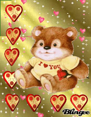 buscar imagenes de amor animadas osito entre corazones picture 127430353 blingee com