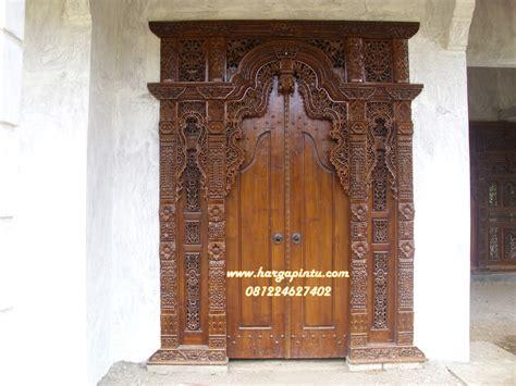 Gebyok Kusen Pintu Ukir model pintu gebyok ukir harga murah jati jepara harga pintu