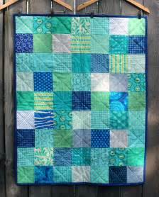 Aqua Blue Quilt A And Simple Finish For Friday Wombat Quilts