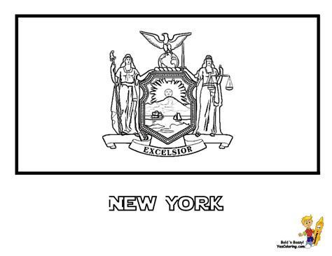 New York Flag Coloring Page new york state flag coloring page to print models