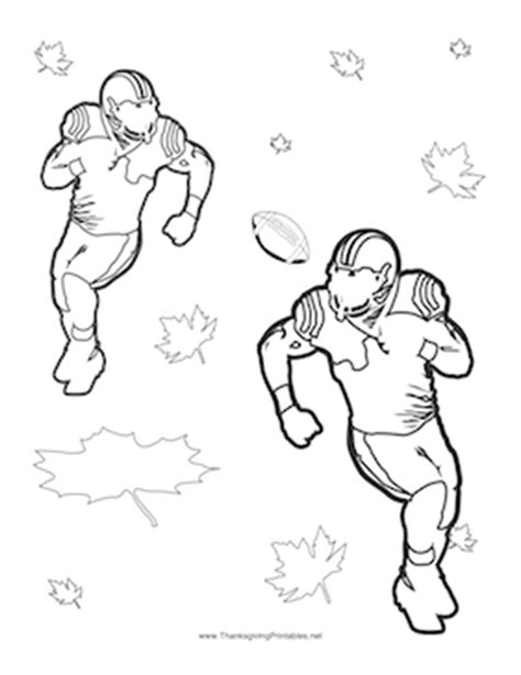football turkey coloring page thanksgiving football players coloring page
