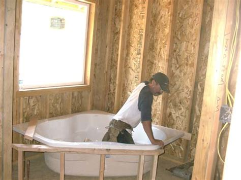 corner framing around bathtub images