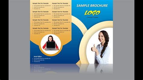 corel draw booklet layout brochure design in coreldraw in hindi creative brochure