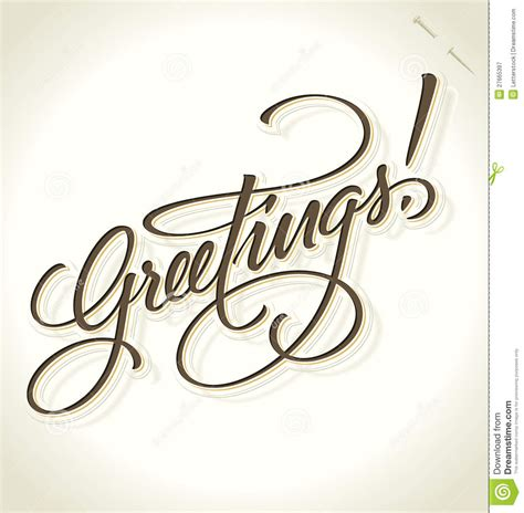 Handmade Lettering - greetings lettering vector royalty free stock
