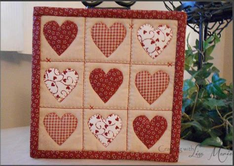 moda patterns quilt mug rugs you to see hearts and stitches mini quilt mug rug by