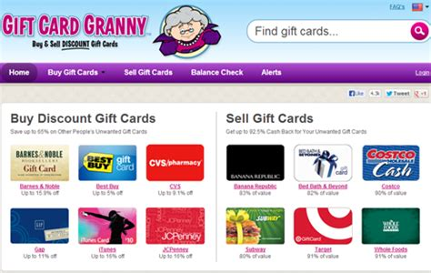 Www Gift Card Granny Com - frugal hack 12 how to buy discounted gift cards rather be shopping com