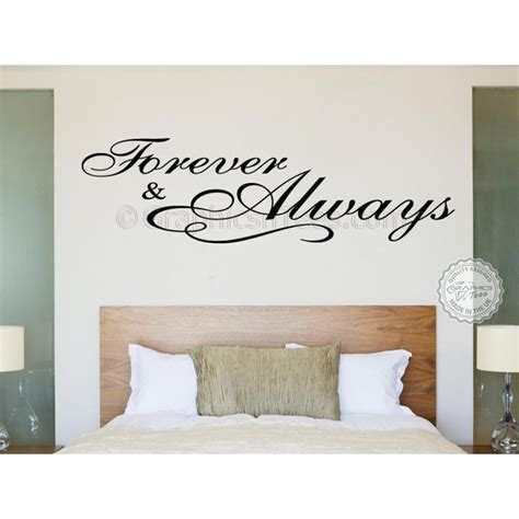 love wall decals for bedroom forever and always bedroom wall sticker romantic love