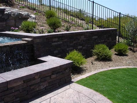 modern retaining wall retaining walls and freestanding block walls san diego
