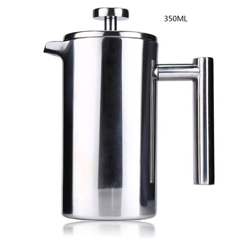 Barista Coffee Ter Espresso 58mm Stainless Blue Black Color 350ml espresso coffee maker pot practical stainless steel cafetiere wall insulated tea