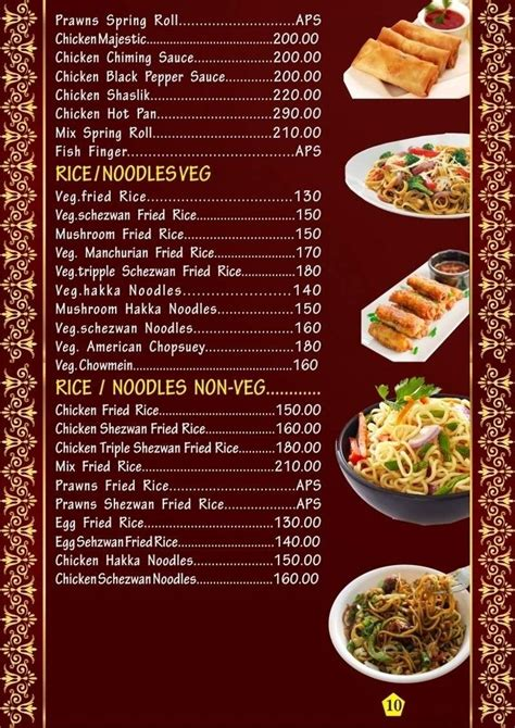 hotel menu card template menu card food items food