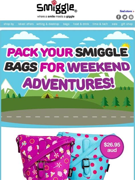 Sale Smiggle Pencil Butterfly smiggle new bags that are made for weekend milled