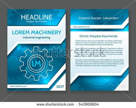 Digital Brochure Templates by Abstract Technology Brochure Template Modern Digital Stock