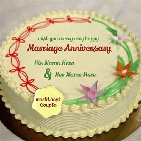 Anniversary Cake ? Write name on image