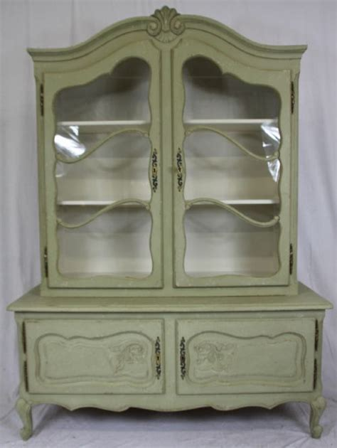shabby chic painted french bookcase or cabinet 204001 sellingantiques co uk