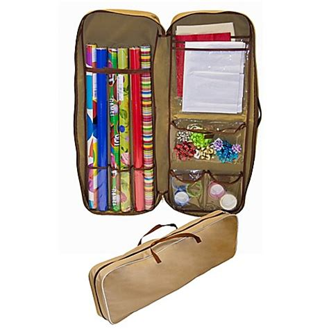 bed bath and beyond gift wrapping master craft gift wrap storage bag in tan bed bath beyond