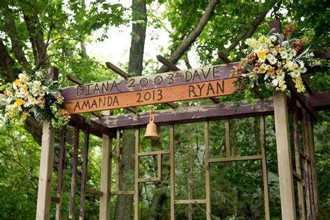 Wedding Arbor Rustic by Amanda Rustic Ranch Wedding Borrowed Blue