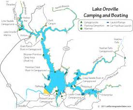 lake oroville cing and boating map