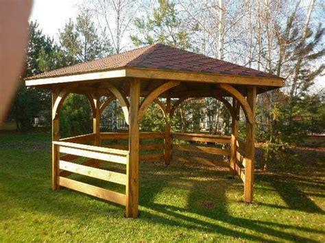gazebo 5x4 gazebo esagonale arredo giardino esterno in legno