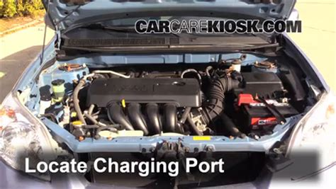 automotive air conditioning repair 2010 toyota matrix engine control how to add refrigerant to a 2003 2008 toyota matrix 2008 toyota matrix xr 1 8l 4 cyl