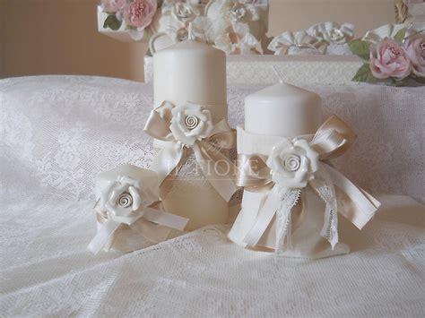 candele profumate francesi linea shabby chic pizzo bomboniera comunione matrimonio