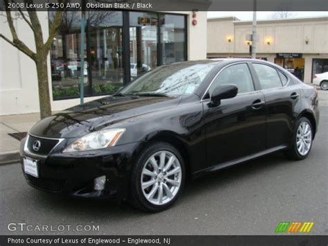 2008 lexus is 250 black obsidian black 2008 lexus is 250 awd black interior