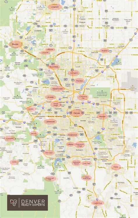 maps denver map of denver metro area cities