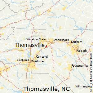 best places to live in thomasville carolina