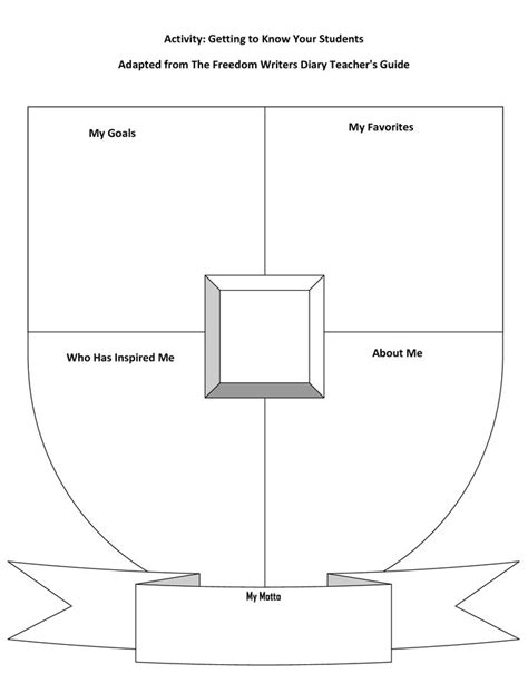 blank coat of arms template printable school pinterest