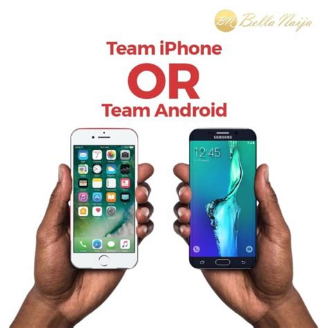 Iphone Or Android by Iphone Or Android Rep Your Team Bellanaija
