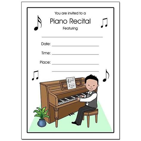 Sylvanian Families Piano Resital Dress piano recital boy fill in the blank invitations mandys moon personalized gifts